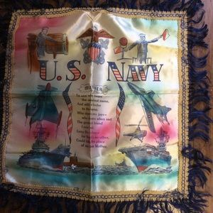 Accessories - WWII USA Navy Collectible Pillow Cover Silk MOTHER